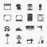 Electronic home icons. Illustration of electronic home icons vector illustration