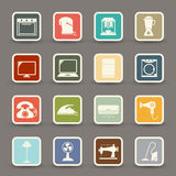 Electronic home icons Stock Photos