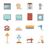 Electronic home icons Stock Photography