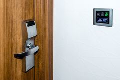 Electronic Hotel  Doorplate Stock Images