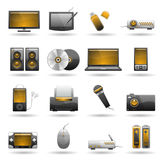 Electronic icon set Royalty Free Stock Photos