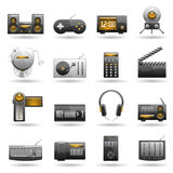 Electronic icon set Stock Photos