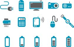 Electronic Icon Set Stock Photo