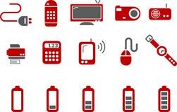 Electronic Icon Set royalty free illustration