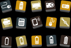 Electronic Icon Set stock illustration