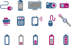 Electronic Icon Set Stock Photography