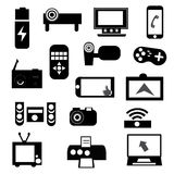 Electronic icon set Royalty Free Stock Image