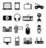 Electronic Icon Set Royalty Free Stock Images