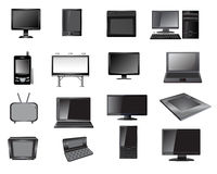 Electronic icon set Royalty Free Stock Images