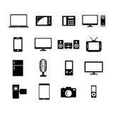 Electronic Icon. Set for your design Royalty Free Stock Image