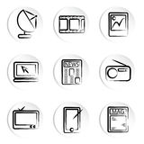 Electronic icons Royalty Free Stock Photography