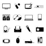 Electronic Icons Stock Photos