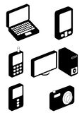 Electronic icons Royalty Free Stock Image