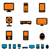 Electronic icons Stock Photo