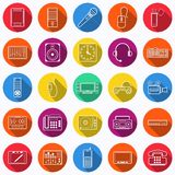Electronic icons collection Royalty Free Stock Image