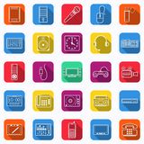 Electronic icons collection Stock Images