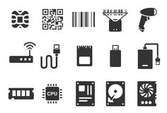 Electronic icons. Flat Design Vector Illustration: Electronic icons vector illustration