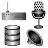 Electronic icons Royalty Free Stock Image