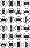 Electronic icons set Royalty Free Stock Images