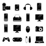 Electronic icons vector Stock Photos