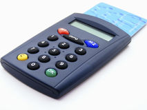 Electronic identity-credit card reader Royalty Free Stock Image