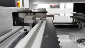 Automation machine in modern manufacturing. stock footage