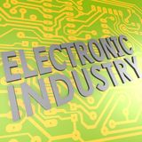 Electronic industry and PCB Stock Image