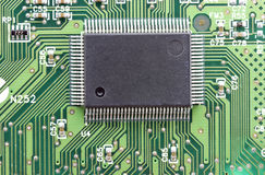 Electronic integrated circuit chip as an abstract Stock Photos