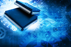 Electronic integrated circuit chip Royalty Free Stock Photography