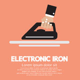 Electronic Iron In Hand Royalty Free Stock Photography