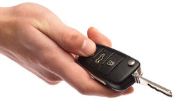 Electronic key of car Royalty Free Stock Photos