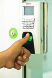 Electronic key lock Royalty Free Stock Photography