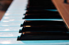 Electronic key synthesizer close up Royalty Free Stock Image
