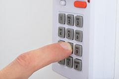 Electronic key system to lock and unlock doors Royalty Free Stock Photography