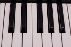Electronic keyboard detail Royalty Free Stock Image