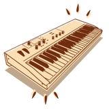 Electronic keyboard. Illustration of electronic keyboard isolated on white background stock illustration