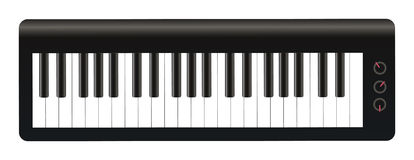 Electronic Keyboards. A Electronic Keyboards on a white background Royalty Free Stock Photos