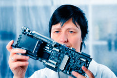 Electronic laboratory Stock Photo
