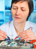 Electronic laboratory Royalty Free Stock Image