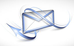 Electronic letter. The electronic letter with an arrow. Vector illustration Stock Images