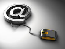 Electronic letter email and communication concept Stock Photography