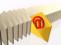 Electronic letters Stock Images