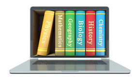 Electronic library concept Stock Photos