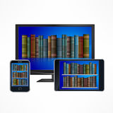 Electronic library devices Royalty Free Stock Photography