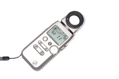 Electronic light meter. Stock Photo