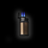 Electronic lighter with double jet flame. Electronic metal lighter with double jet flame refillable Windproof lighter Cigar Lighter stock photography