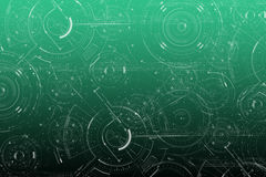 Electronic line. On green colors background Royalty Free Illustration