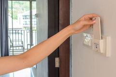 Electronic lock with card Royalty Free Stock Image