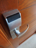 Electronic lock on door Royalty Free Stock Photos