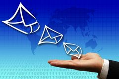Electronic mail business Stock Photography